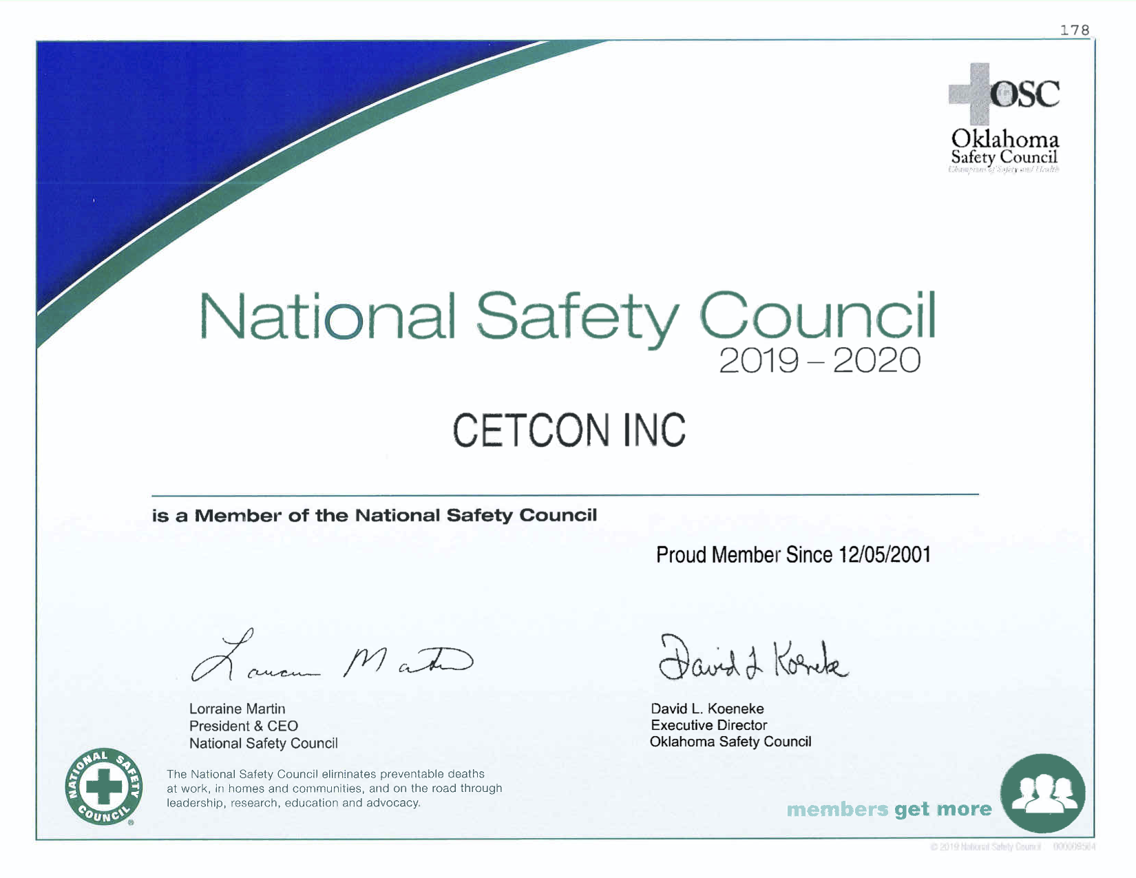 NationalSafetyCouncilCertificate